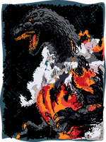 Burning Godzilla Color by Art-Minion-Andrew0
