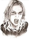 .Commission. Angela Gossow by Noire-Ighaan