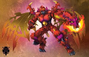 Transmetal 2 Beast Wars Megatron by Dan-the-artguy