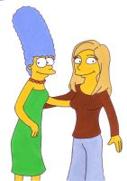 Marge Simpson and Anke Engelke by Flachzange