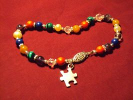 Autism Awareness Bracelet by RaCzarina