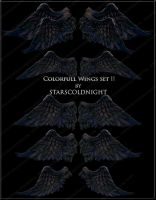 Colorfull Wings set I by STARSCOLDNIGHT by StarsColdNight