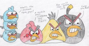 The Birds' Reaction to Bad Piggies by Cameronwink