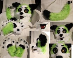 New partial puppy fursuit SOLD by Osanakaan