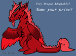 Fire Dragon Adoptable TAKEN by BlackWolf1112-ADOPTS