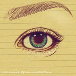 EYE-ballpoint sketch by illusionality