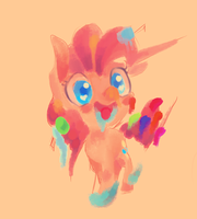 pink filly poneh by Spanish-Scoot