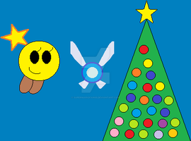 Starlow and Navi celebrate Christmas by SuperMarioFan65