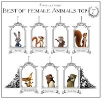 AH Best Female Animals top 7 by FairytalesArtist