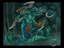 Naga warrior by ska-fandr