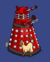 Toki charms a Dalek by AndreaOfTheLand