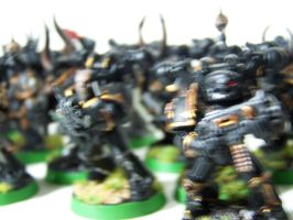 Space Marines in Action by pyramidrus
