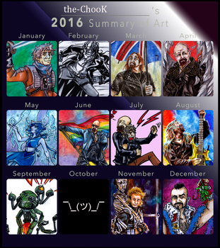 2016 Summary of Art by the-ChooK