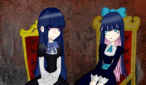Stocking and Bernkastel by LazyGuu