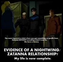Evidence of a Nightwing/Zatanna Relationship by UnofficialGrapefruit