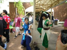 Toph and Korra by xogirlxo78