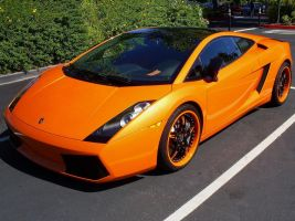 Lambo Gallardo orange rims by Partywave