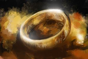 Hobbit/Lord of the Rings - Ring Speedpaint by FrostwindHD