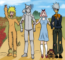 Naruto: The Wizard of OZ by FudgeNugget