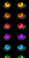 Rainbow Creature Eyes Stock by Rhabwar-Troll-stock