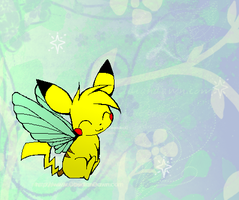 pika butterfly by the-doodle-queen