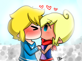 Tetra and Link:Kiss by seattletrain