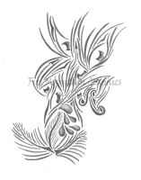 Tribal Tattoo Design by liquidblueeyes