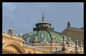 Roof Of Slowacki Theatre In Cracow by skarzynscy