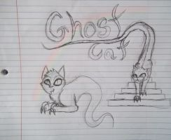Ghost Cat by ShadowsSearching