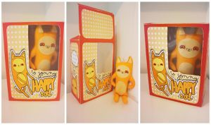 Cat doll with box by Loominary