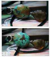 Turquoise Pendant TWO by CrysallisCreations