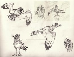 Old Seagull Sketch by Animator-who-Draws