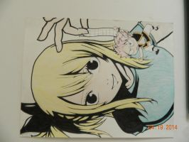 Lucy and Chibi Natsu by vocaloidlovers1234