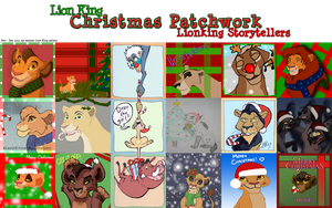 Lion King Christmas Patchwork by Juffs