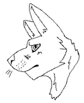 Ms paint safe Wolf Lineart (P2U) by Gunner543