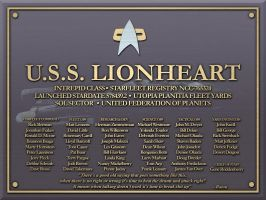 USS Lionheart Plaque by LordTrekie