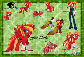 Fire Strike Reference Sheet by Kazziepones