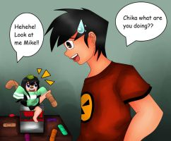 Mike and Chika by jazzy2cool