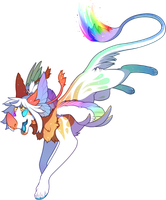 Grotte Demigod of Rainbows by Lilwolfpard
