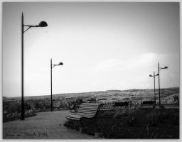 Lamps and benches by quevedo3