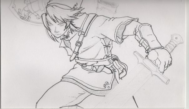 Sketchbook - Link WIP by shudso