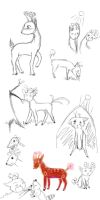 Biodeer Sketches by Shelilla