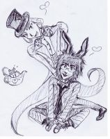 Mad Hatter and the March Hare by ShinkiroeNoYoru