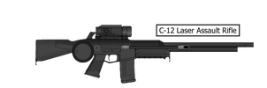 C-12 Heavy Assault Laser Rifle by MasterMikel
