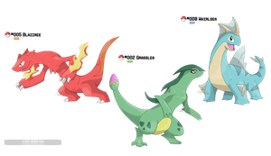 002, 005, 008: Mayhle Starters - Second Stage by LeafyHeart