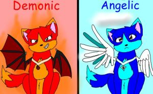 Angelic And Demonic by AppleInuFreak2000