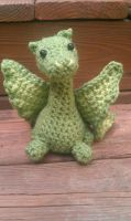 Amigurumi Green Dragon by PerilousBard
