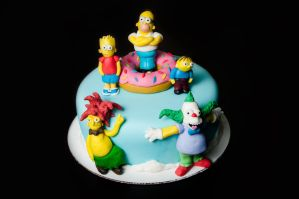 The Simpsons Cake by KayleyMackay