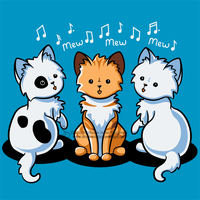 Mewsic Cats Shirt Design by SingapuraStudio