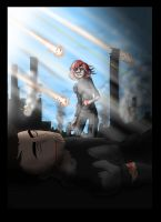 spoiler:shepard and james final fight by rotten-jelly-babie
